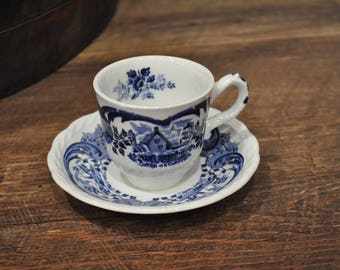 Teacup & Saucer - Cottage in a Cornfield - Scenes after Constable - Staffordshire England