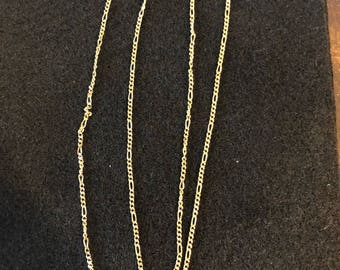 14kt Yellow Gold 1.5mm Solid Figaro Chain