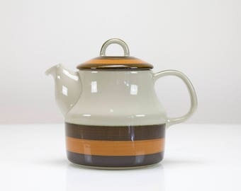 Vintage Rörstrand Annika teapot, Marianne Westman, Sweden, Scandinavian, Retro Coffeepot, 1970s