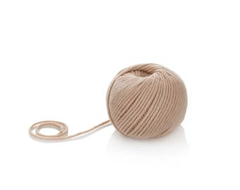 Beige Merino Yarn - Aran Merino Yarn - Winter Wool Yarn -  Superwash Merino Yarn - Worsted Merino Yarn - Soft Wool Yarn - 10-ply merino Yarn