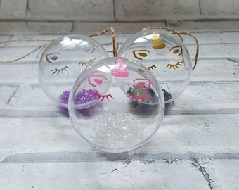 Unicorn Head 8cm Bauble - Bauble/Unicorn/Unicorn Head/Girly/Decor/Gift Idea