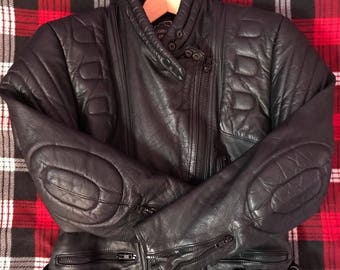 Vintage Mens Brown Leather Motorcycle Jacket