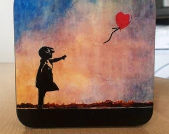 Banksy Coaster #8 - Banksy Gift - Banksy Coaster - Custom Coaster -Gift for Her - Gift For Him - Fridge Magnets - Banksy Magnet - Souvenir