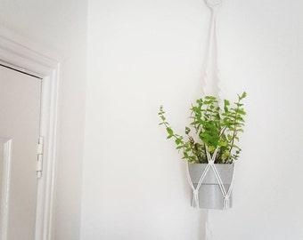 Macrame Plant Hanger Homemade Boho Gift