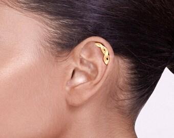 14k Gold Celtic Braid Helix Piercing - cartilage earring , cartilage stud , gold helix piercing , celtic helix earring , helix earring