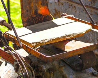 Wooden tractor seat