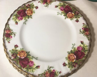 "Set Of Two Royal Albert Dessert Plates 8"" Diameter Vintage 60's"