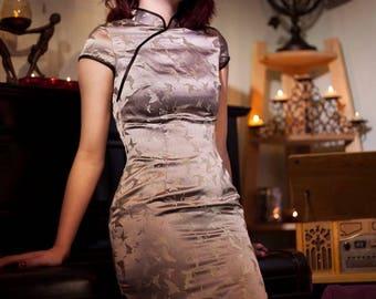 Vintage Cheongsam dress - Size S