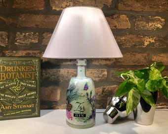 Z44 Dry Gyn Upcycled Bottle Lamp,handcrafted lamp bottle. Table Lamp. Bedroom and livingroom Lamp. Bar and home bottle lamp.Handmade lamp