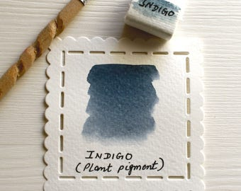 Indigo- Handmade Watercolor
