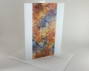 Maple tapestry no. 11 blank card, individually handmade: A7, notecards, fine cards, SKU BLA71009