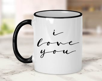 I love you Mug // Love Mug // Wedding