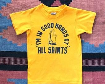 "Vintage ""All Saints"" Child's Tee Shirt"