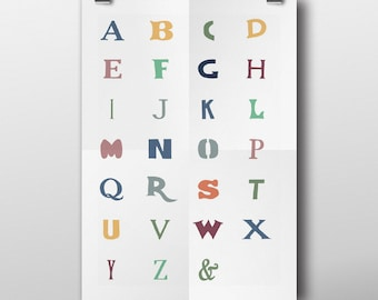 A-Z Typographic Poster