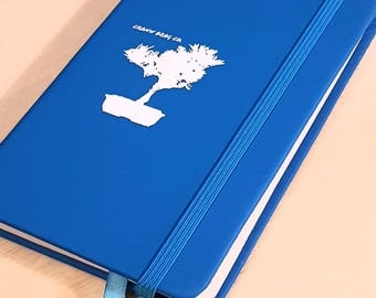 A6 Bonsai Blue Hard back notebook notepad