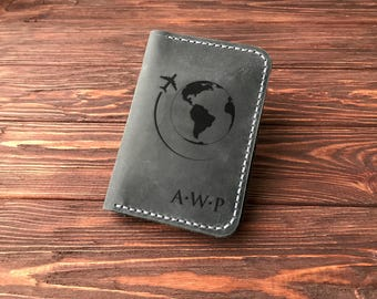 Personalized Passport Wallet, Leather Passport Holder, Travel Gift Passport Cover Gift for Traveler Engraved Personalized Passport Holder k4