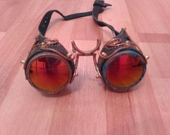 Steampunk Leather Googles Hand Made