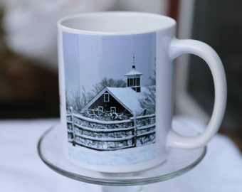 Stopping By Woods on a Snowy Evening Mug