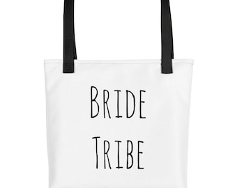 Bride Tribe Tote, Bride Squad, Wedding, Bridesmaids, Bridal Party Bags, Bridal Party Gifts, Bridal Tote Bag, Gifts, Squad Goals