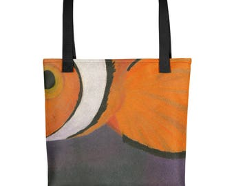 Clown Fish - Amazingly beautiful full color tote bag with black handle featuring children's donated artwork.