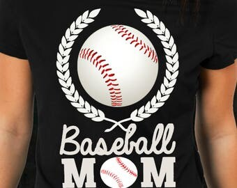 Game Day Shirts Baseball Mom Apparel. Awesome Sports Mom T Shirt Tee Quote.  Cheer