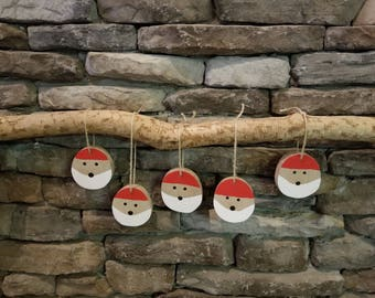 Santa face ornaments