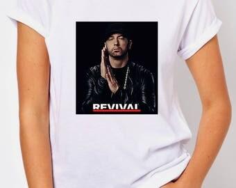 T-SHIRT EMINEM REVIVAL / tshirt rap / tee music / tshirts rapper / tees hip-hop / tshirt walk on water / gift / fans