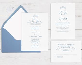 Wedding invite pdf etsy monogram wedding invitation template wedding invitations wedding template wedding printable wedding invite stopboris Gallery