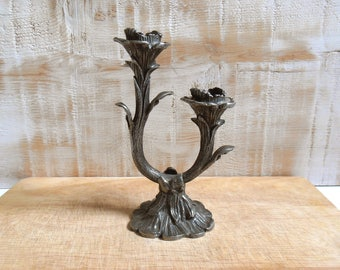 Candle holder inspired art nouveau Tin