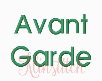 50% Sale!! Avant Garde Embroidery Fonts 4 Sizes Fonts BX Fonts Embroidery Designs PES Fonts Alphabets - Instant Download