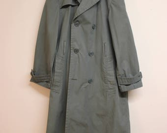 Vintage 1970s army green raincoat/trench coat