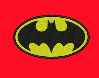 Batman Embroidery design 7 Size INSTANT download machine embroidery