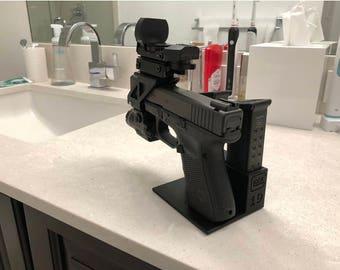 Glock 19 Pistol Stand / glock stand / gun display / glock display / glock / pistol rack / gun stand / pistol stand / pistol display