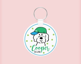 Custom Doodle Keychain (Girl or Boy), Personalized Goldendoodle  Key Chain, Pet owner, personalized gift for pet lovers, friends, family