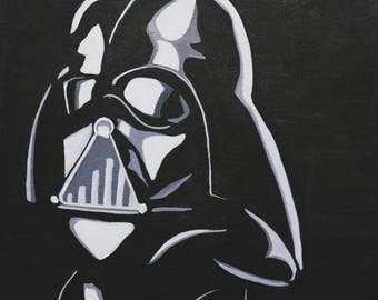 Darth Vader Portrait, Star Wars, Black and White, Silhouette, Portrait Figure, Bust