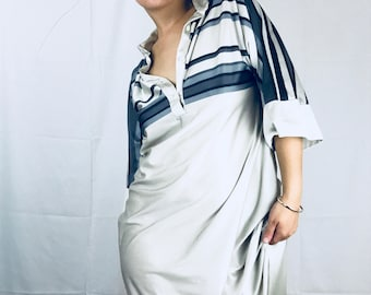 Silky striped Nightgown Dress