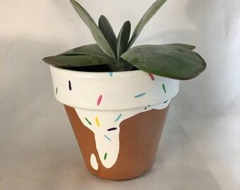 Sweet Treat || Flower Pot || Terra Cotta Pot || Doughnut || Ice Cream || Sprinkles