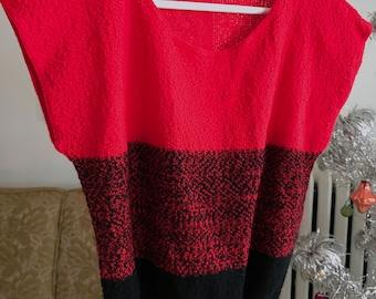 TV Fuzz Sweater Red