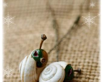 Shrek & Yoda - snail earrings