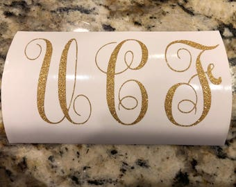 UCF Knights Gold Vinyl Monogram