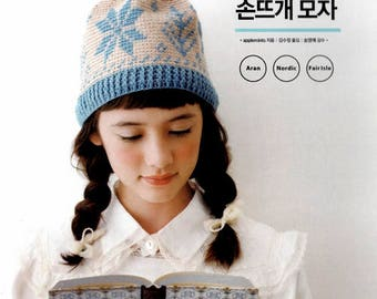 Nordic Style Knitted Hat That Is Warm-Hearted By Applemints, Korean Craft Book, Crochet Book, Knitting Book, 9788998317102