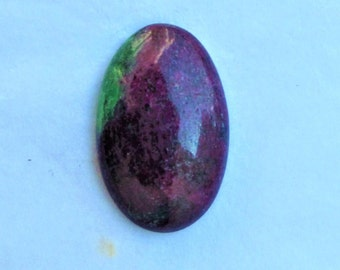 21x33x8mm Natural Ruby Zoisite. Ruby Zoisite cabochon. Oval Shape 61.75Cts. For Jewelry Ruby Zoisite loose gemstone. Ruby Zoisite gemstone.