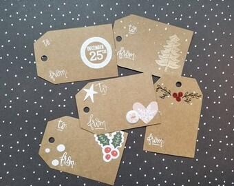 Mixed Christmas Gift Tags
