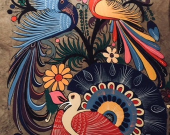 Birds of Paradise painting