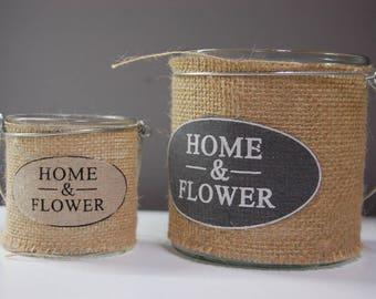 2 Glass Candleholders HOME&FLOWER | 2 Portavelas Cristal HOMEyFLOWER