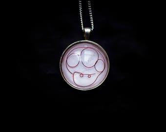 Pendant necklace minimalist mushroom mario