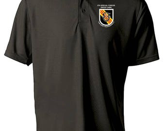 5th Special Forces Group Embroidered Moisture Wick Polo Shirt -1965