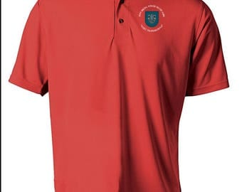 19th Special Forces Group Embroidered Moisture Wick Polo Shirt -3772