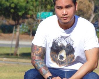 Trails Of Cali Bear - T-Shirt - Unique t shirt - art tshirt - punk clothing for men - streetwear