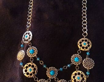 Glittery, Highly detailed, Geodesic Necklace